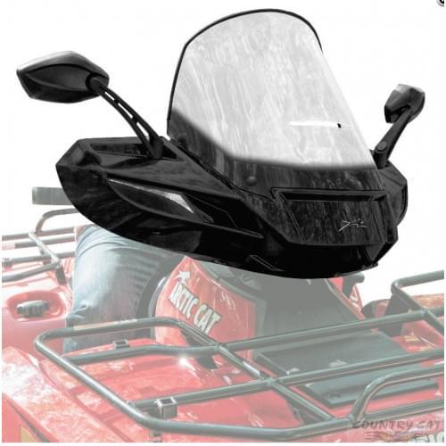 Стекло для квадроцикла универсальное с зеркалами ATV WindPro Viper BlACK